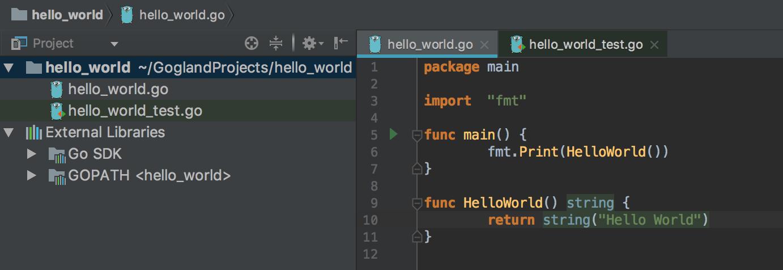GO/GOLANG: Hello world - main code