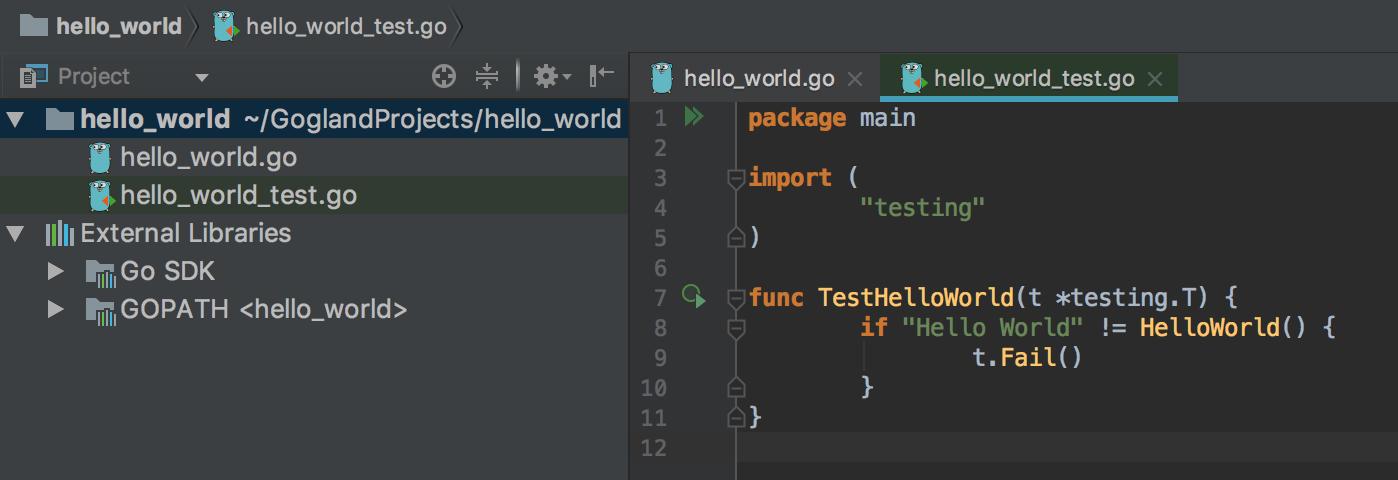 GO/GOLANG: Hello world - test code